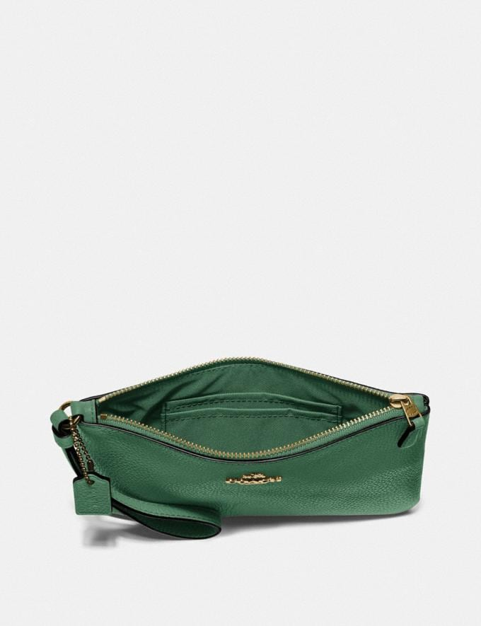 Coach Small Wristlet B4/Everglade null Alternate View 2