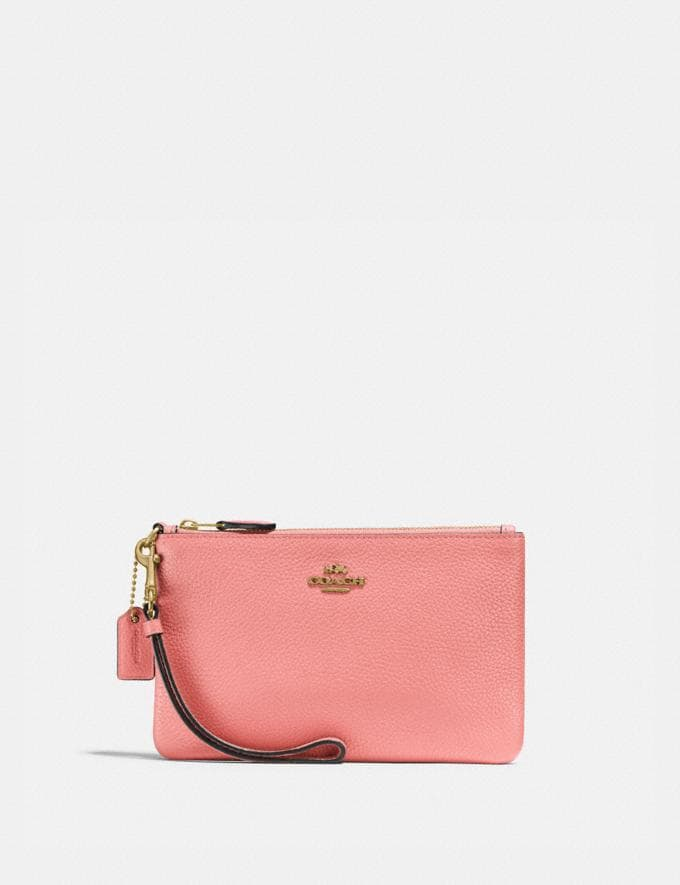 Coach Small Wristlet Brass/Candy Pink DEFAULT_CATEGORY