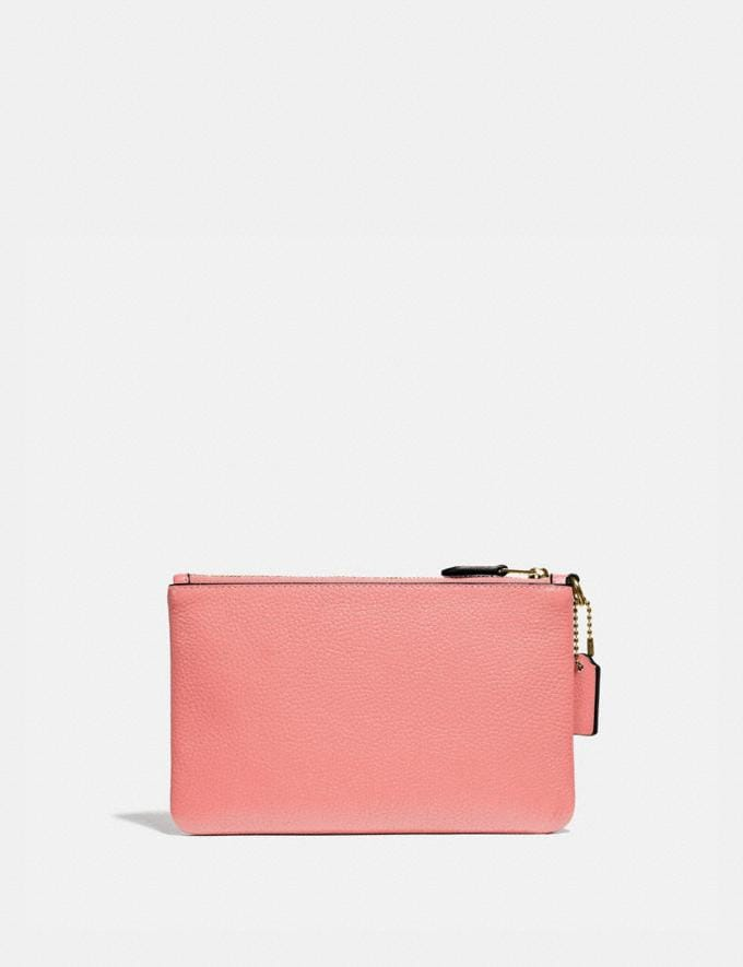 Coach Small Wristlet Brass/Candy Pink DEFAULT_CATEGORY Alternate View 1