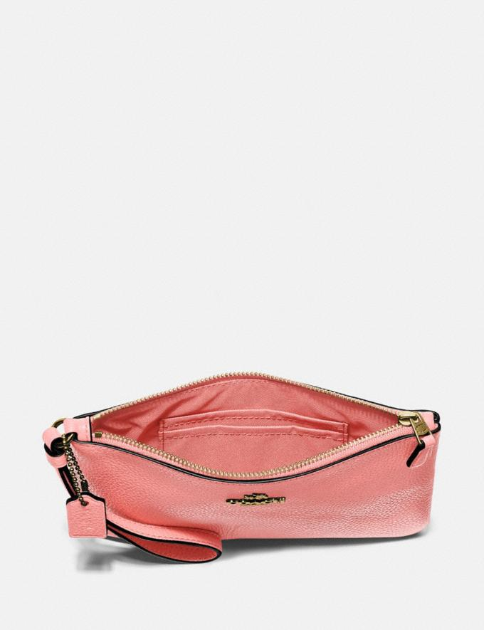Coach Small Wristlet Brass/Candy Pink DEFAULT_CATEGORY Alternate View 2