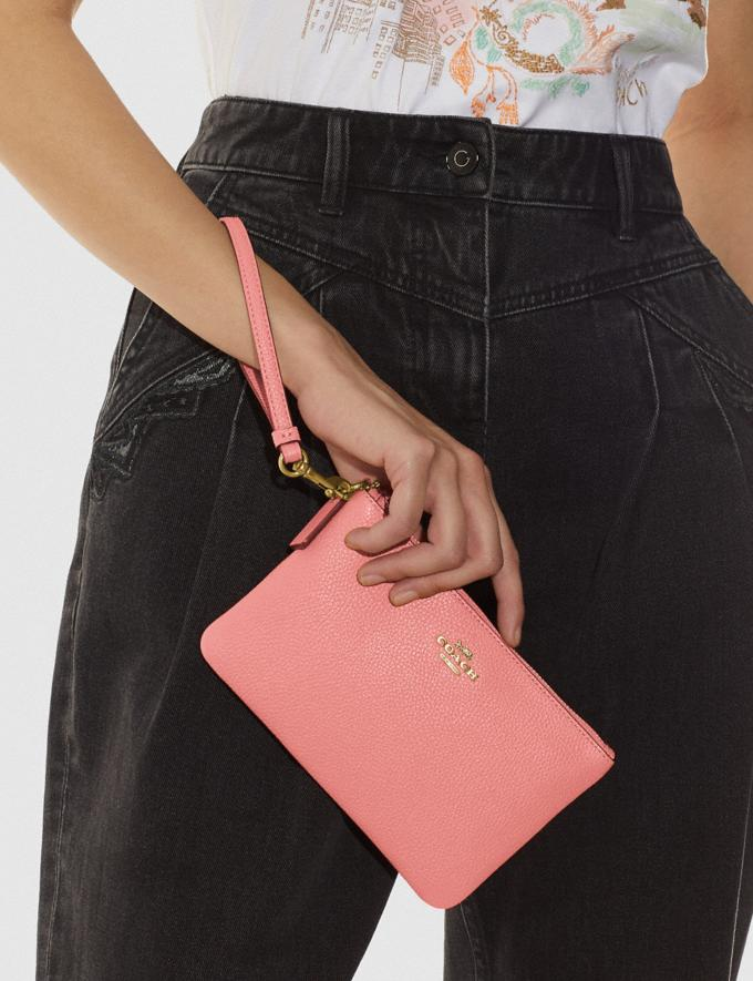Coach Small Wristlet Brass/Candy Pink DEFAULT_CATEGORY Alternate View 3