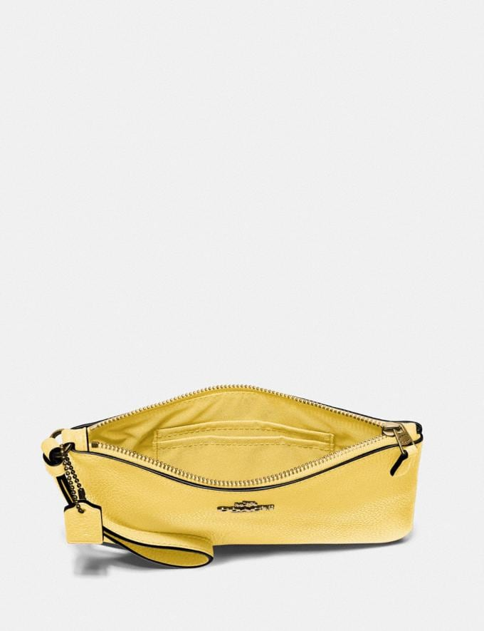 Coach Small Wristlet B4/Retro Yellow New Women's New Arrivals Small Leather Goods Alternate View 1