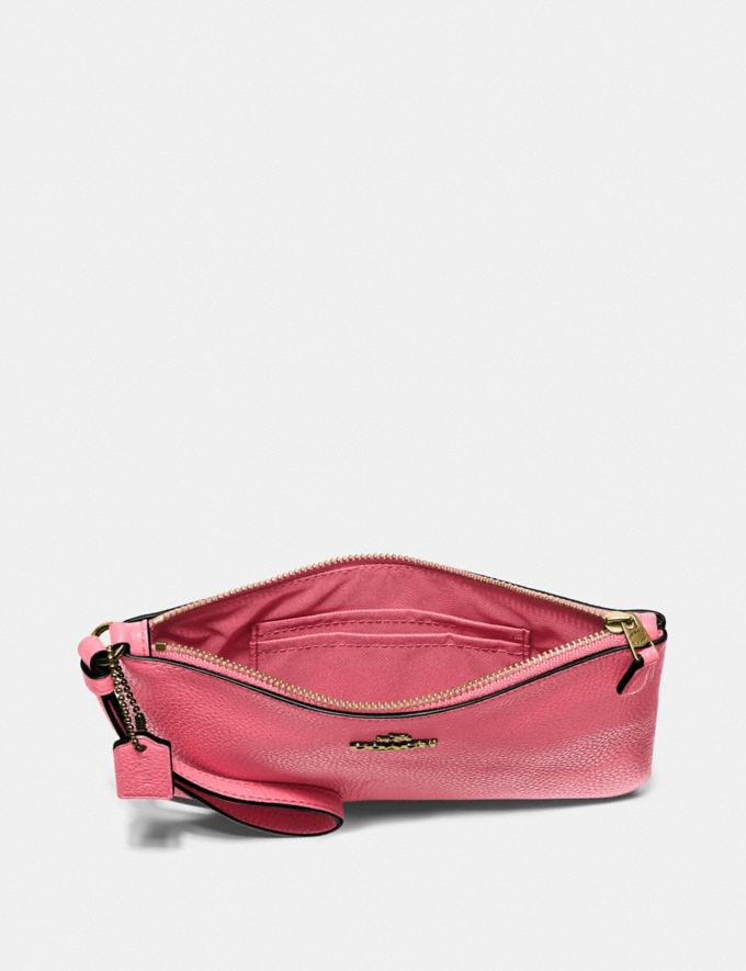 Coach Small Wristlet Brass/Rouge New Women's New Arrivals Small Leather Goods Alternate View 2