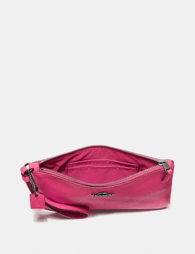 Coach Small Wristlet Dark Pink/Gunmetal New Featured Online-Only Alternate View 1