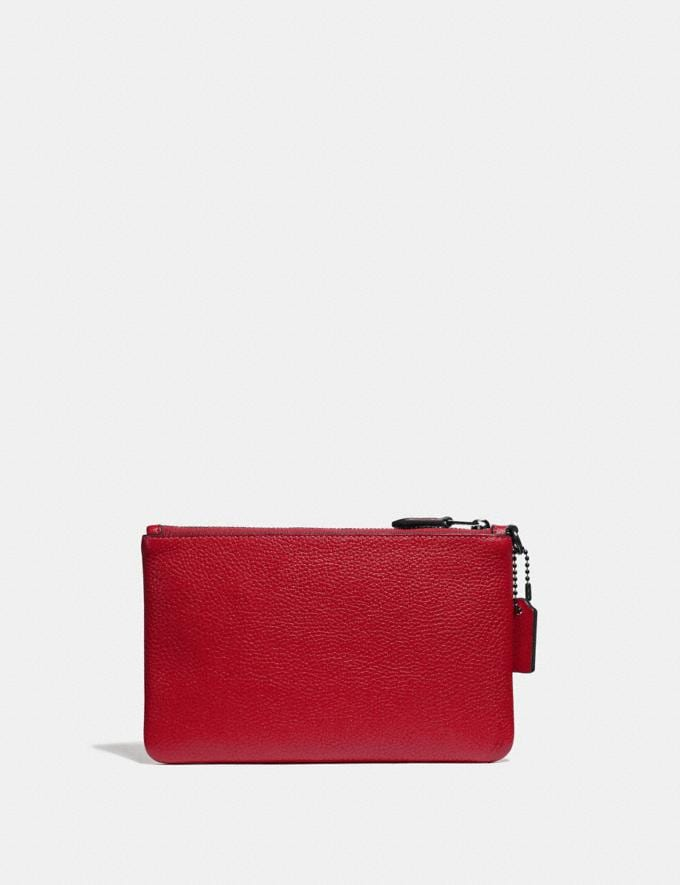Coach Small Wristlet Gunmetal/Red Apple Women Edits Alternate View 1