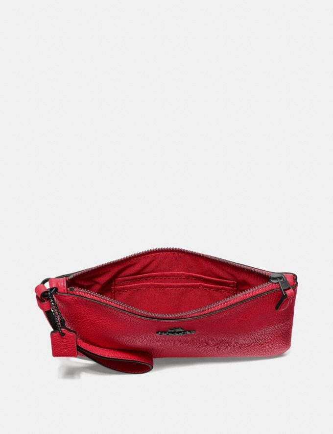 Coach Small Wristlet Gunmetal/Red Apple Women Edits Alternate View 2