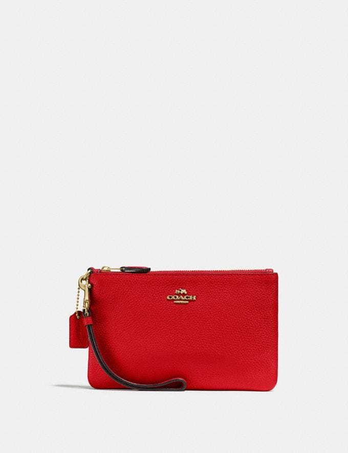 Coach Small Wristlet Jasper/Light Gold Gifts For Her Under £100