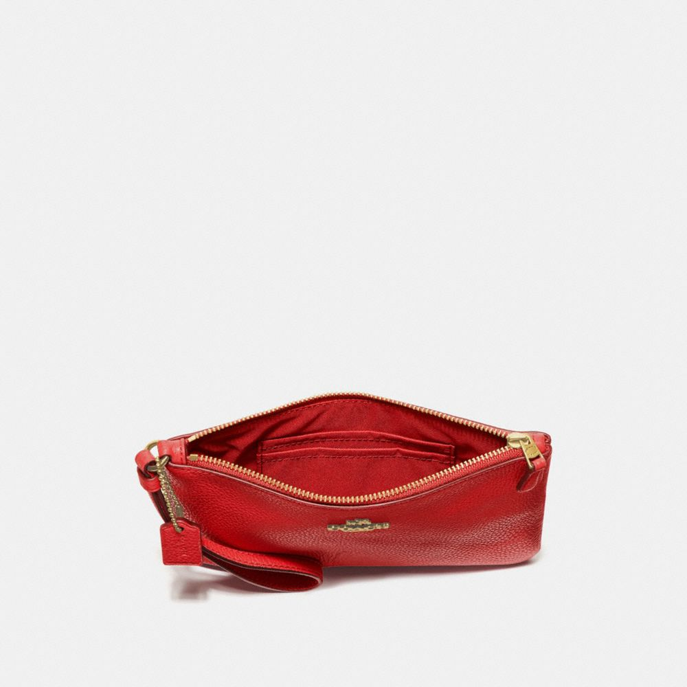 Coach Small Wristlet in Polished Pebble Leather Alternate View 2