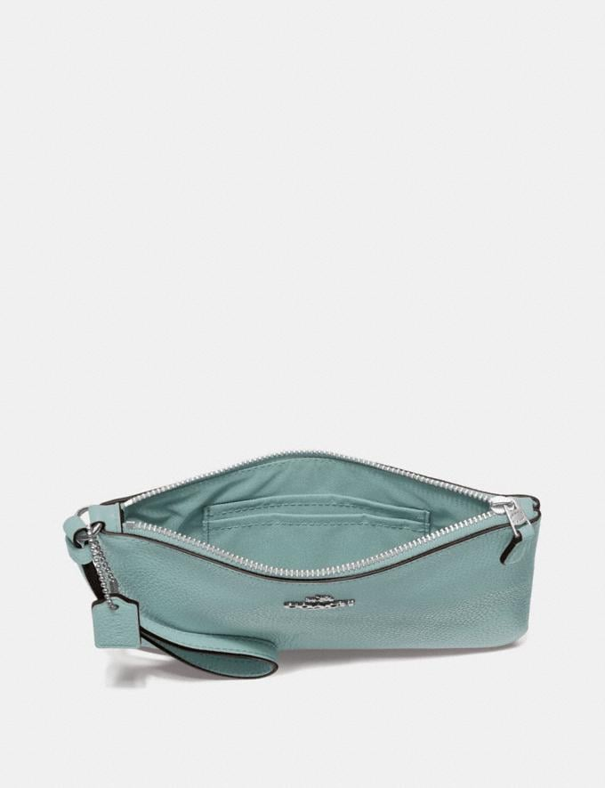 Coach Small Wristlet Light Teal/Silver New Featured Online-Only Alternate View 1