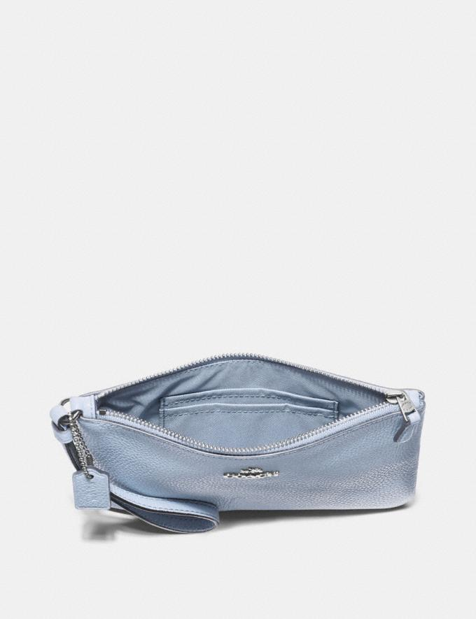 Coach Small Wristlet Silver/Mist New Featured Online Exclusives Alternate View 2