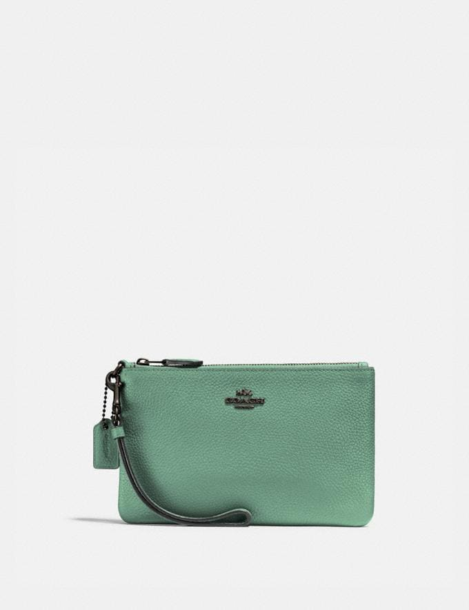 Coach Small Wristlet V5/Washed Green New Women's New Arrivals