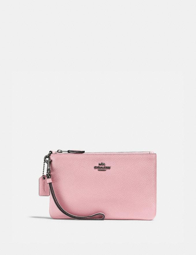Coach Small Wristlet Pewter/Aurora Gifts For Her Under $100