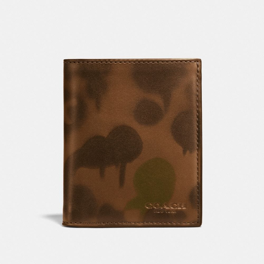 Coach Slim Coin Wallet With Wild Beast Print