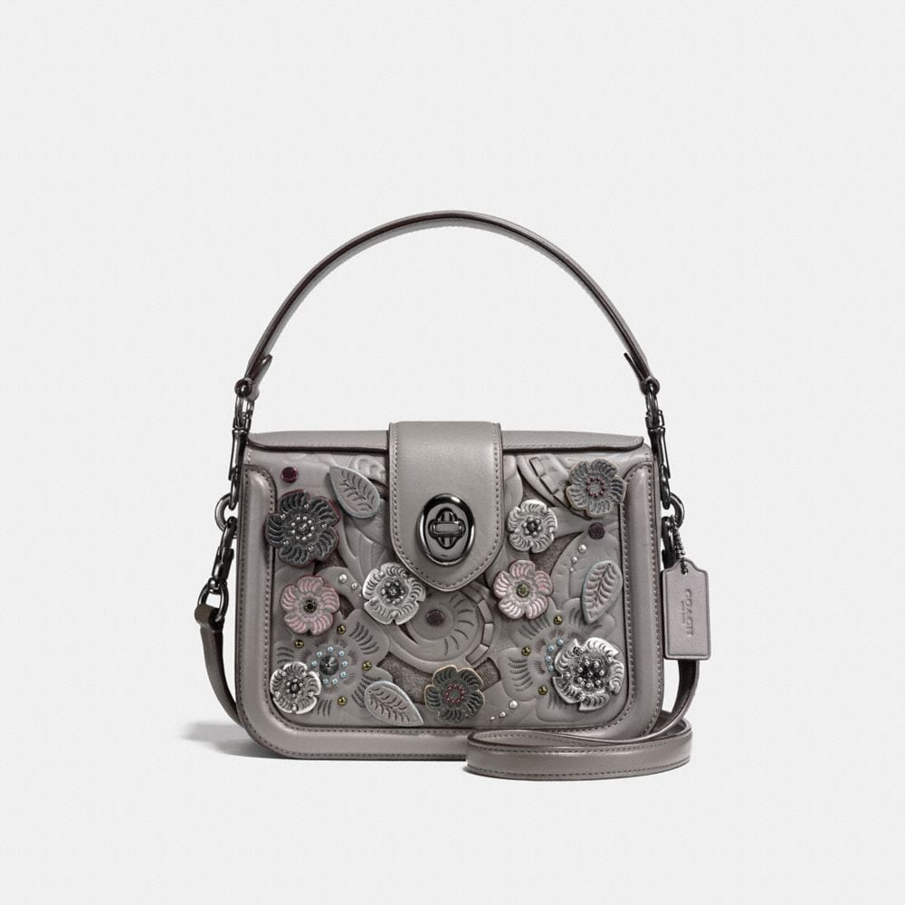 PAGE CROSSBODY WITH TEA ROSE TOOLING