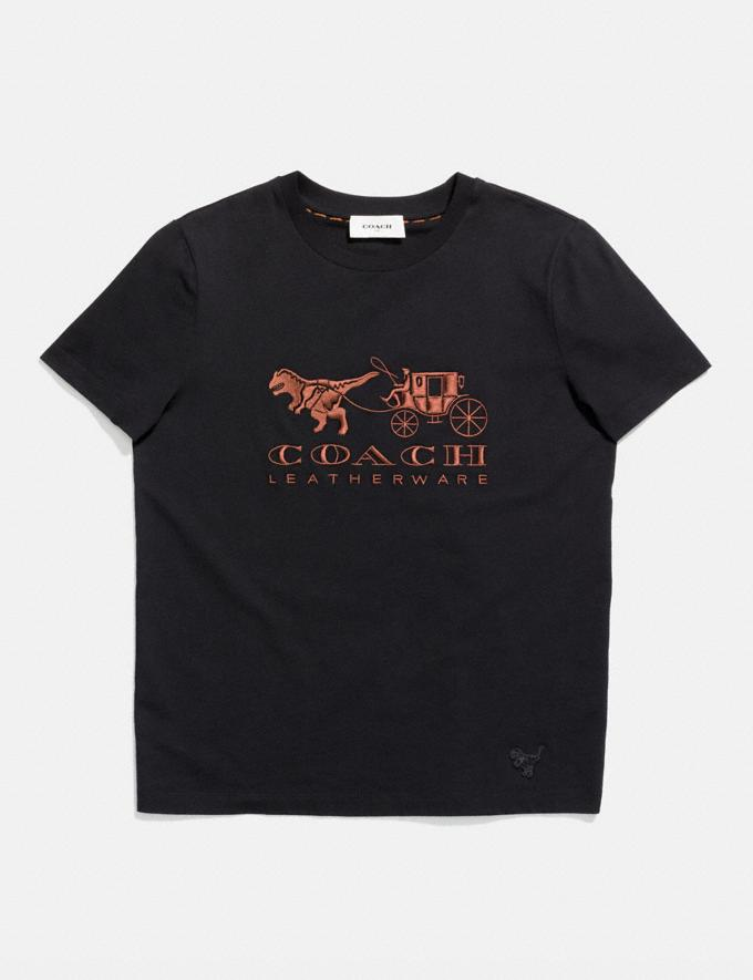 Coach Rexy and Carriage T-Shirt Black Women Ready-to-Wear