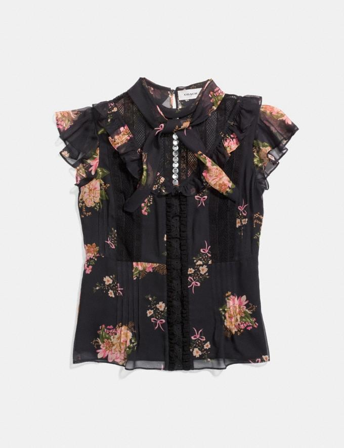 Coach Lacework Western Blouse Black Multi