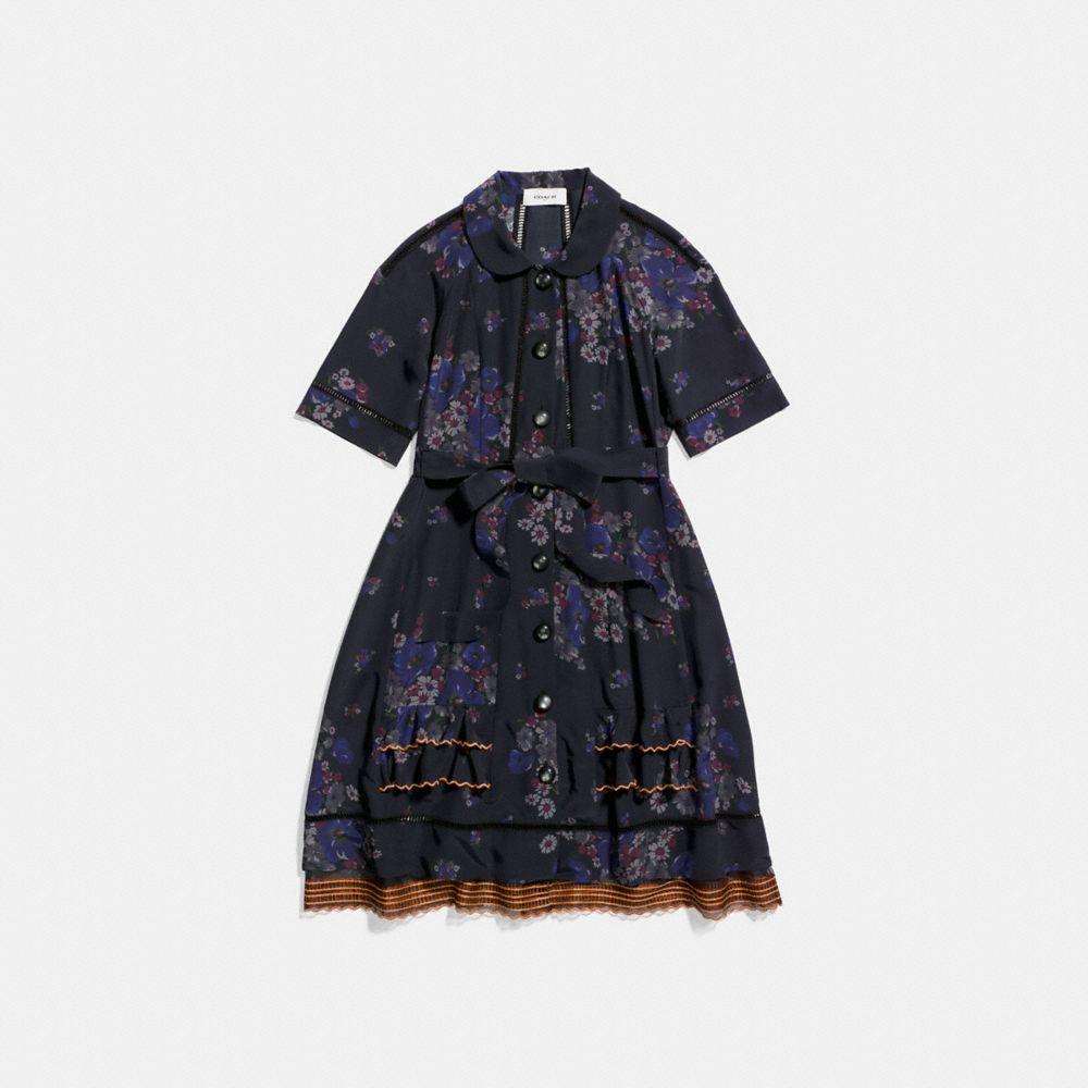 RAGLAN PIECED DRESS