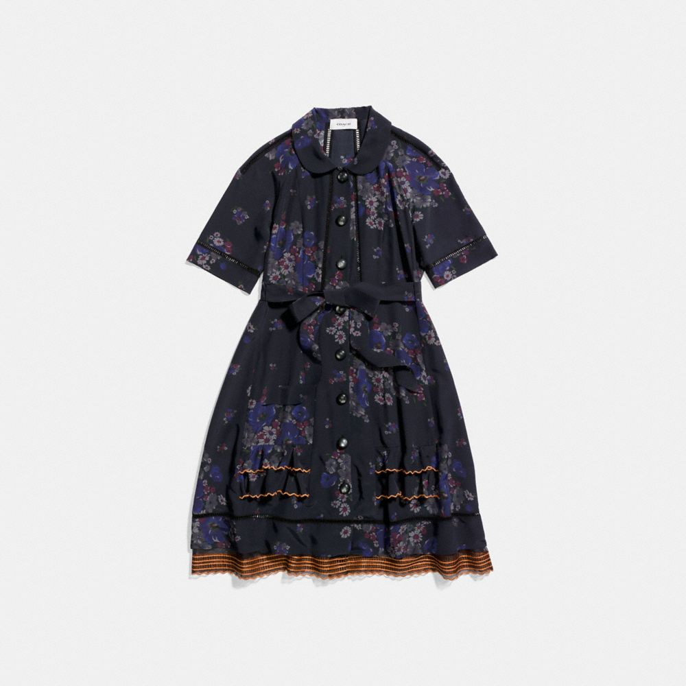 Coach Raglan Pieced Dress