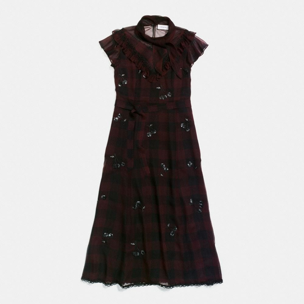 Coach Western Dress With Necktie