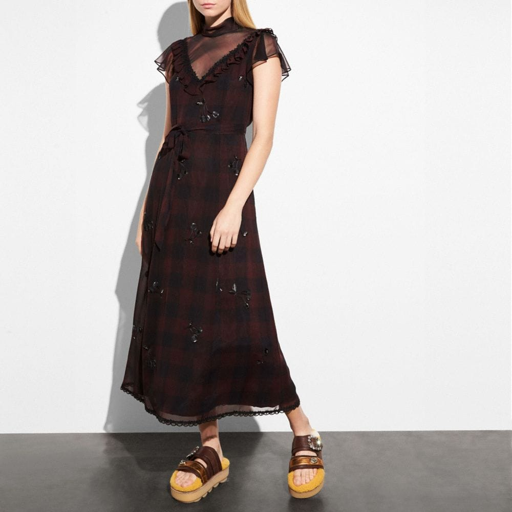 Coach Western Dress With Necktie Alternate View 1