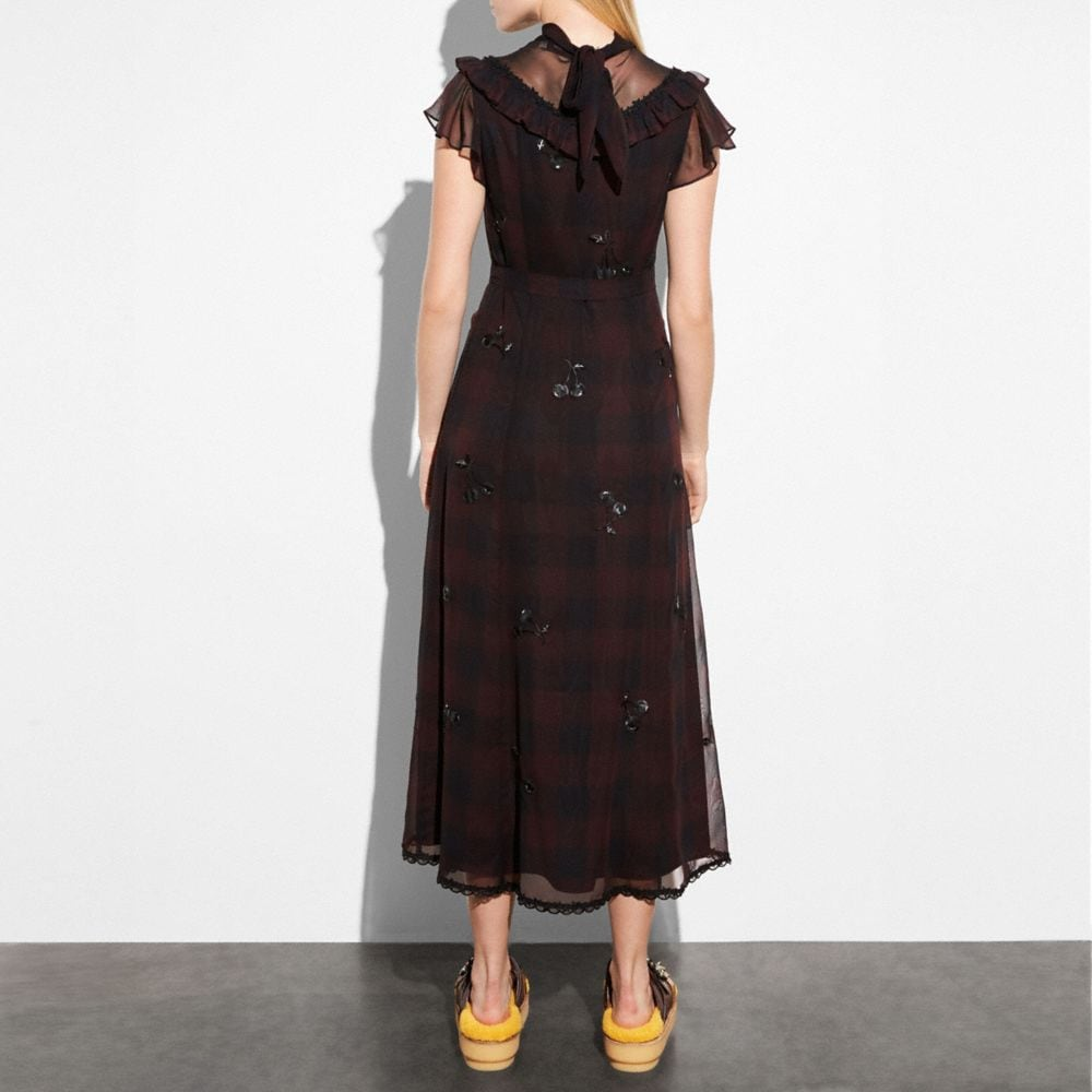 Coach Western Dress With Necktie Alternate View 2