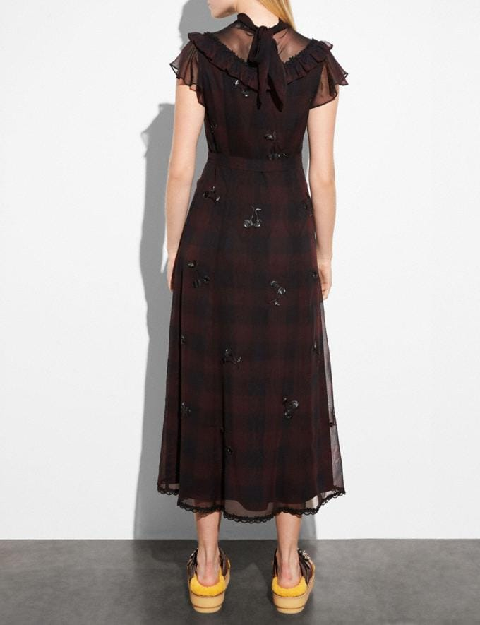 Coach Western Dress With Necktie Dark Burgandy  Alternate View 2