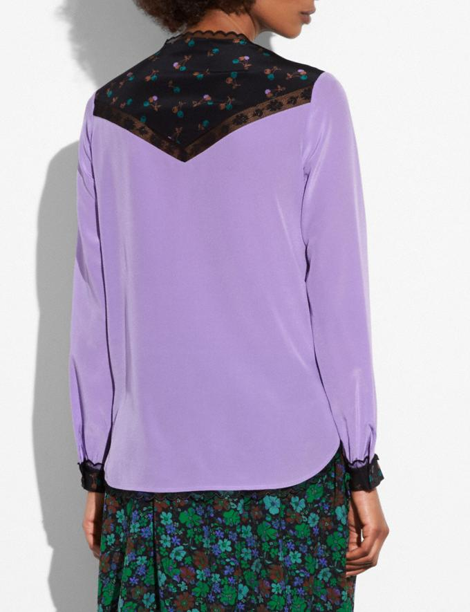 Coach Varsity Blouse Lilac Women Ready-to-Wear Tops Alternate View 2