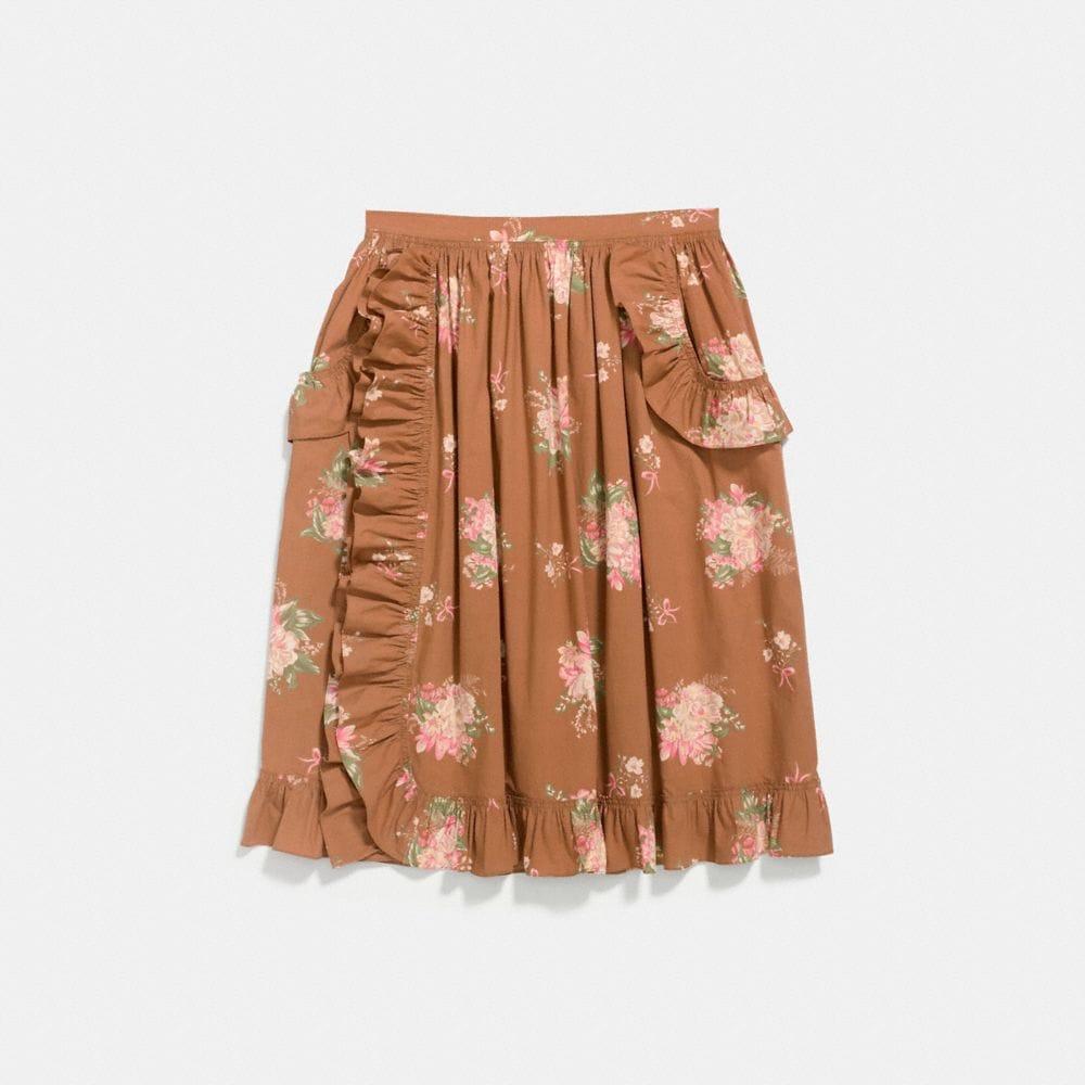 Coach Magnolia Bouquet Ruffle Skirt