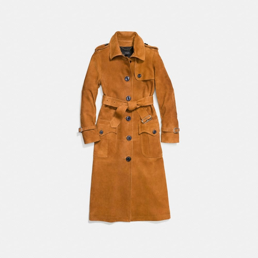 Coach Suede Trench Coat