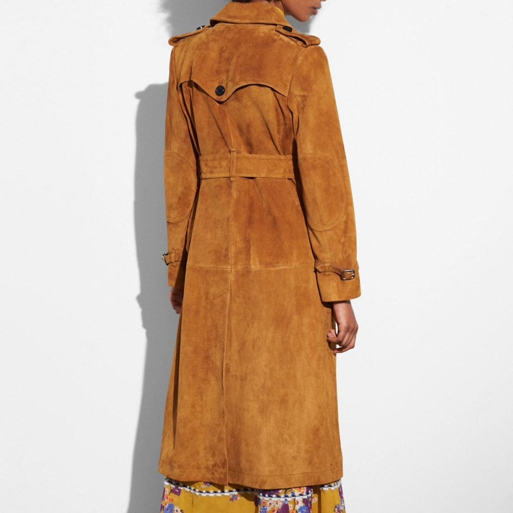 Coach Suede Trench Coat Alternate View 2
