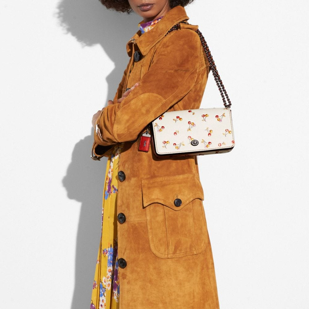 Coach Suede Trench Coat Alternate View 3