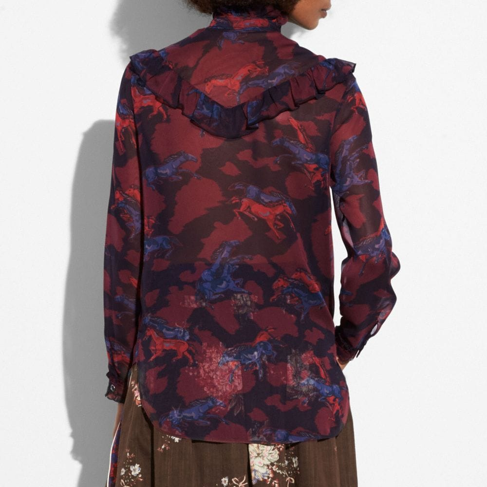 Coach Horse Print Western Blouse Alternate View 2