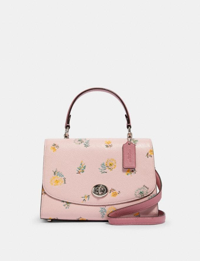 Coach Tilly Top Handle With Dandelion Floral Print Sv/Blossom Green Multi Deals 15% Off Online Exclusives