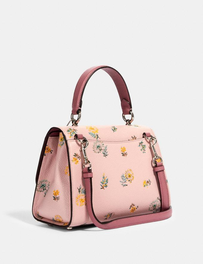 Coach Tilly Top Handle With Dandelion Floral Print Sv/Blossom Green Multi Deals 15% Off Online Exclusives Alternate View 1