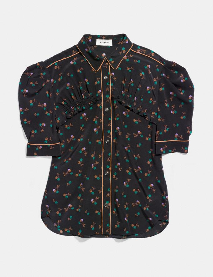 Coach Gathered Front Shirt Black Multi