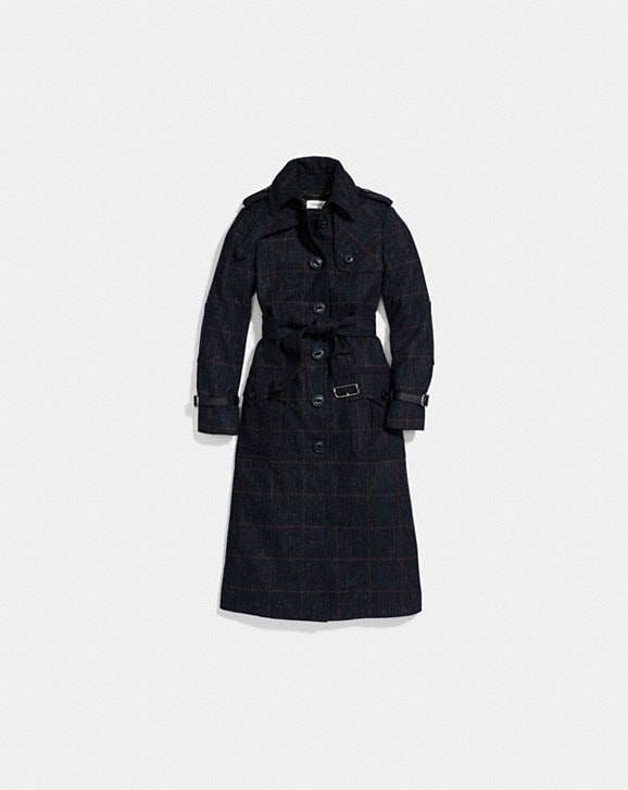 COACH: Wool Trench Coat