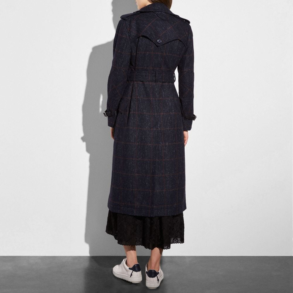 Coach Wool Trench Coat Alternate View 2