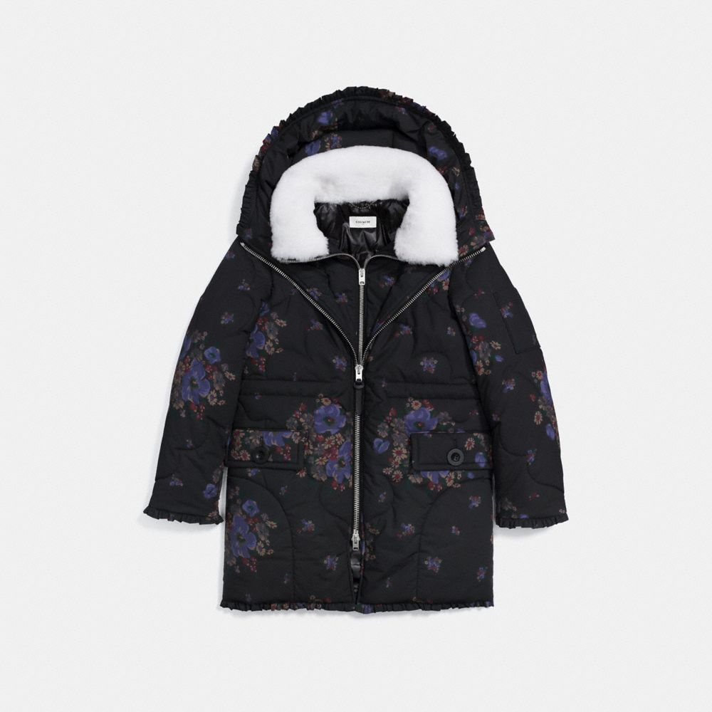 Coach Eiderdown Printed Puffer Jacket