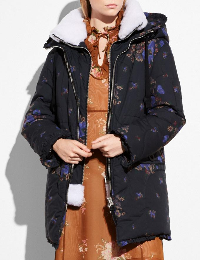 Coach Eiderdown Printed Puffer Jacket Black Multi Women Ready-to-Wear Outerwear Alternate View 1
