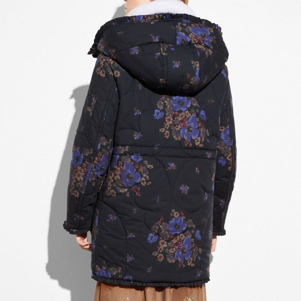 Coach Eiderdown Printed Puffer Jacket Alternate View 2