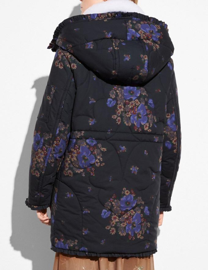Coach Eiderdown Printed Puffer Jacket Black Multi Women Ready-to-Wear Outerwear Alternate View 2
