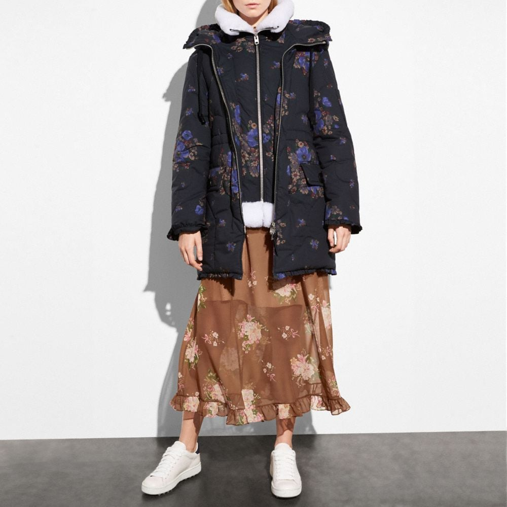 Coach Eiderdown Printed Puffer Jacket Alternate View 3