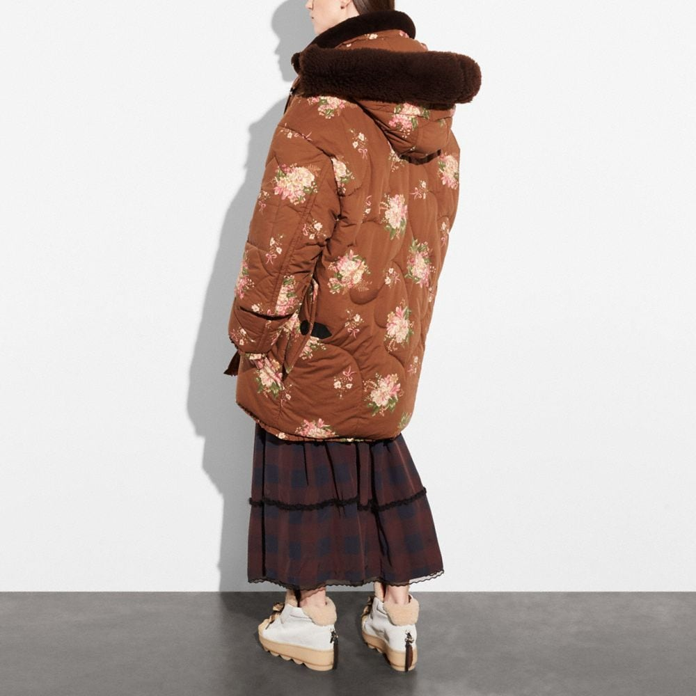 Coach Oversized Eiderdown Printed Puffer Jacket Alternate View 2