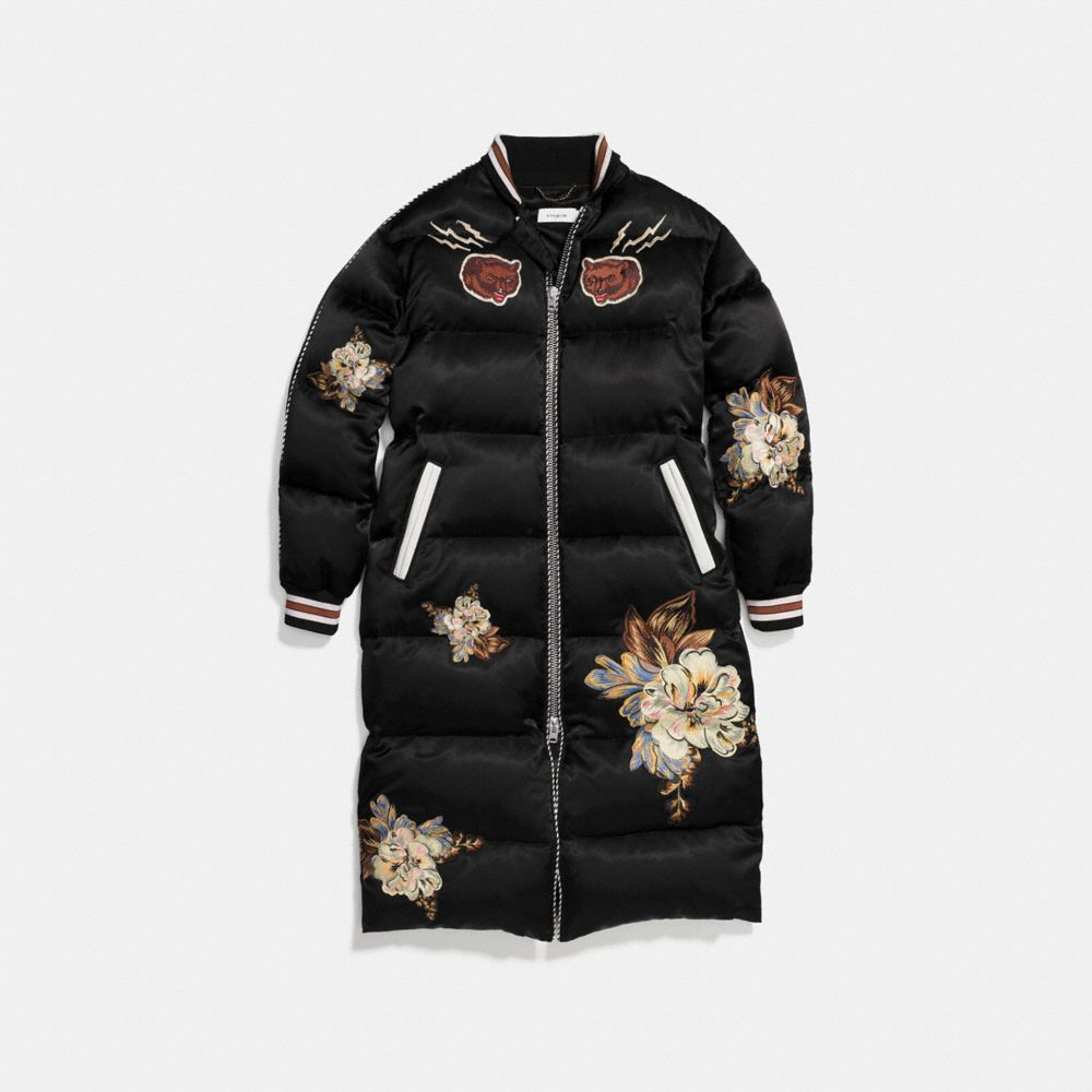 OVERSIZED EAGLE SOUVENIR PUFFER COAT