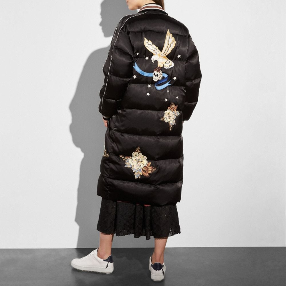 Coach Oversized Eagle Souvenir Puffer Coat Alternate View 2