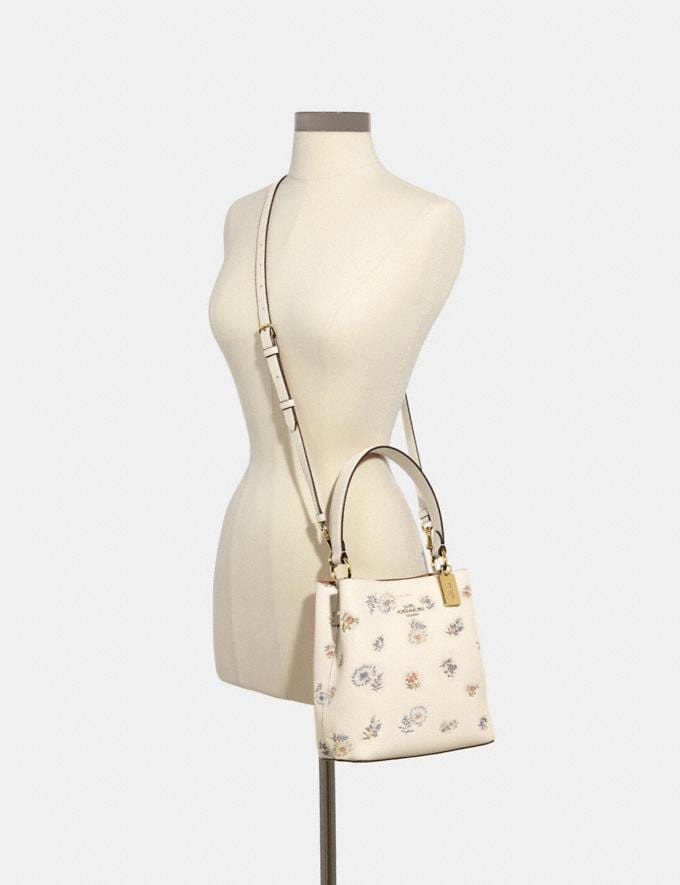 Coach Small Town Bucket Bag With Dandelion Floral Print Im/Chalk Light Saddle Memorial Day Deals Alternate View 2
