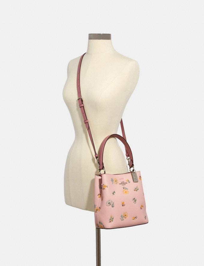 Coach Small Town Bucket Bag With Dandelion Floral Print Sv/Blossom Green Multi Memorial Day Deals Alternate View 2