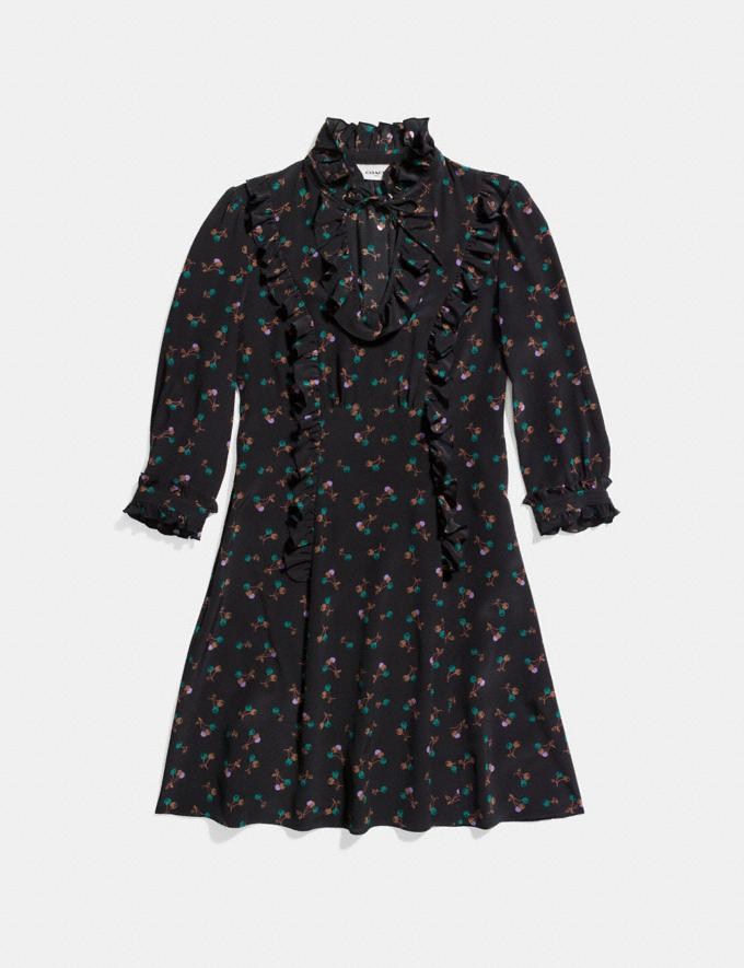 Coach Western Shirt Dress Black Multi