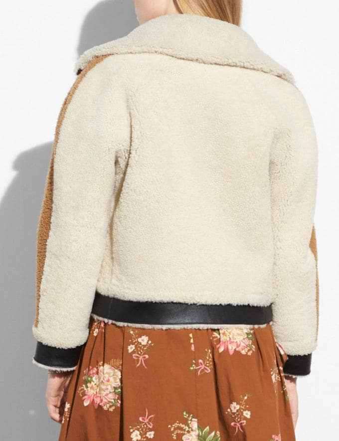 Coach Reversible Shearling Tracksuit Natural  Alternate View 2