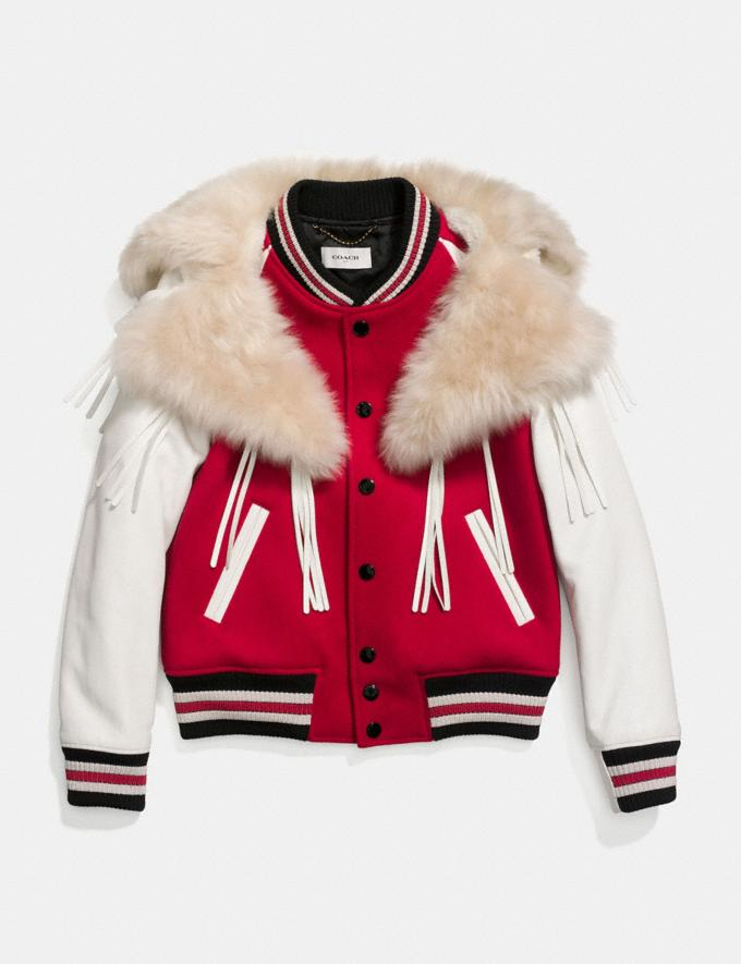 Coach Varsity Jacket Red Women Ready-to-Wear Coats & Jackets